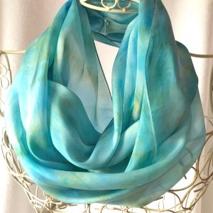 turquoise sand large long snood