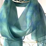 green blue long scarf