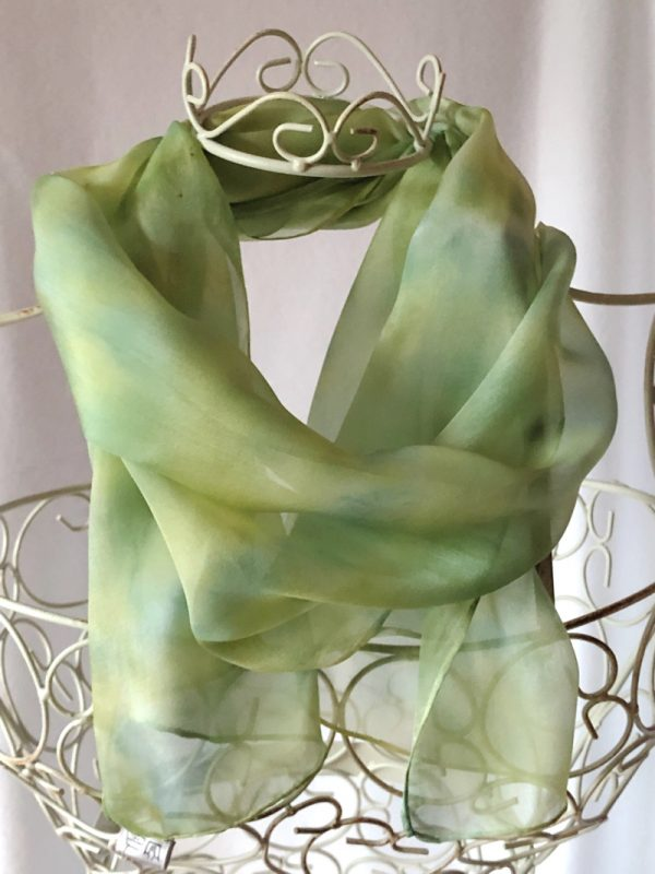 lime green long scarf