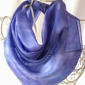 large blue square scarf