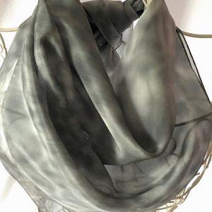 large grey square scarf