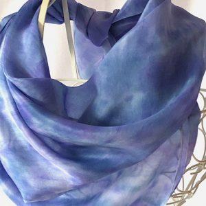 blue square silk scarf