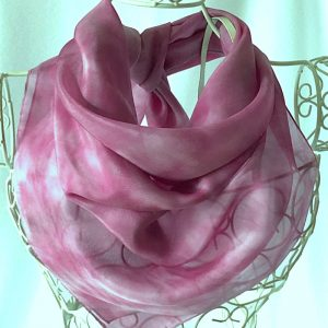 square pink scarf