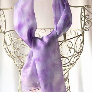 lilac long silk scarf