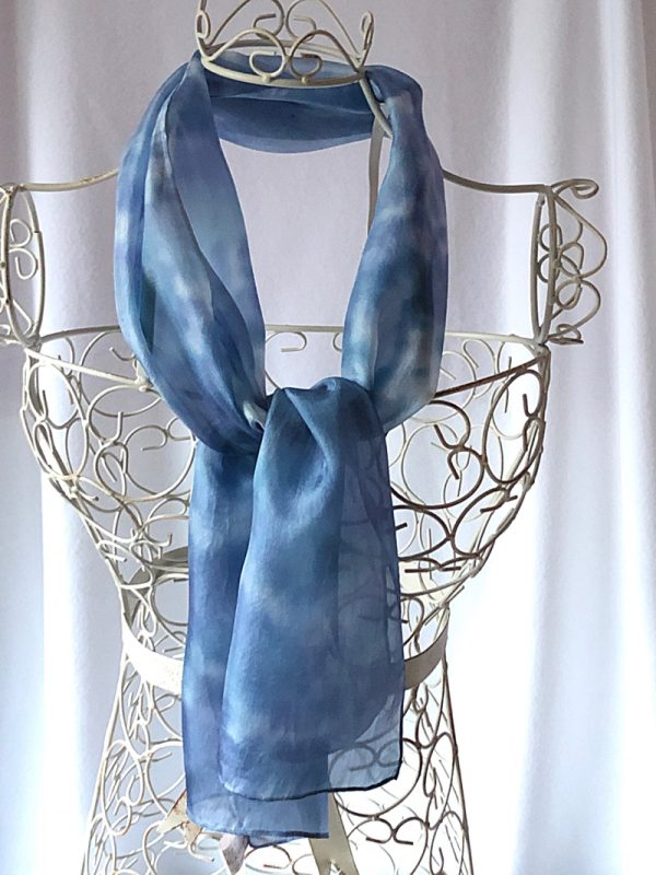 navy blue long scarf