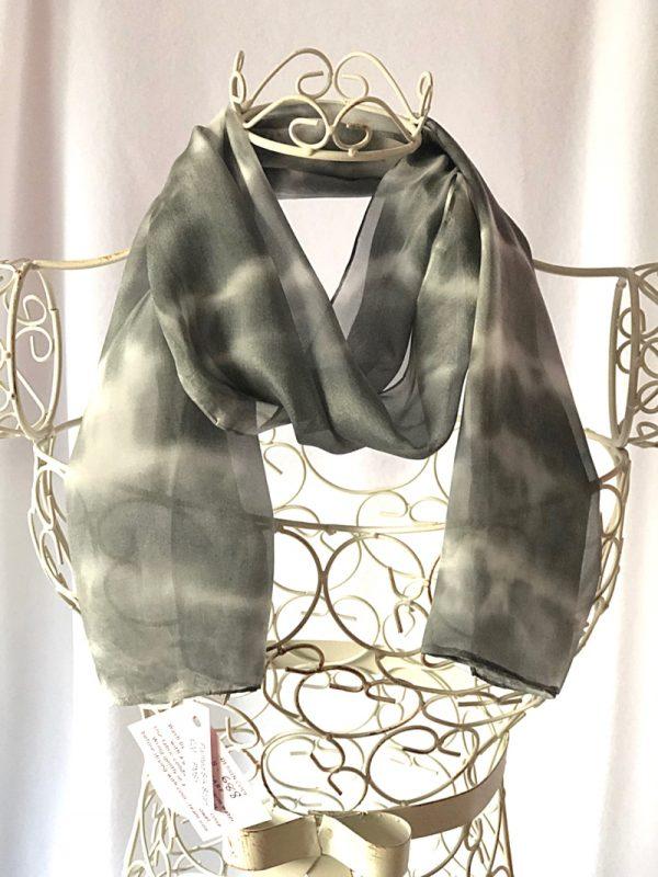 black silk scarf long