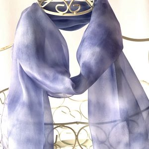 pale navy blue long scarf