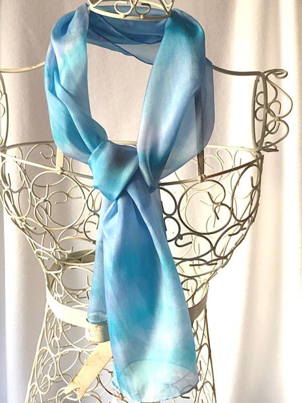long blue scarf