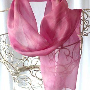 long pink silk scarf