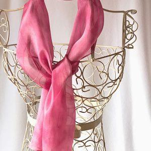 long pink scarf