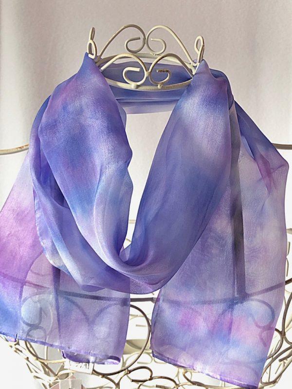 long purple blue scarf