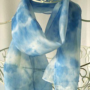pale blue long scarf