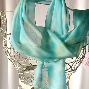 turquoise long scarf