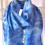 sky blue long scarf
