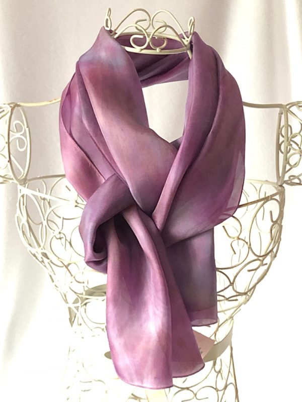 purple pink scarf