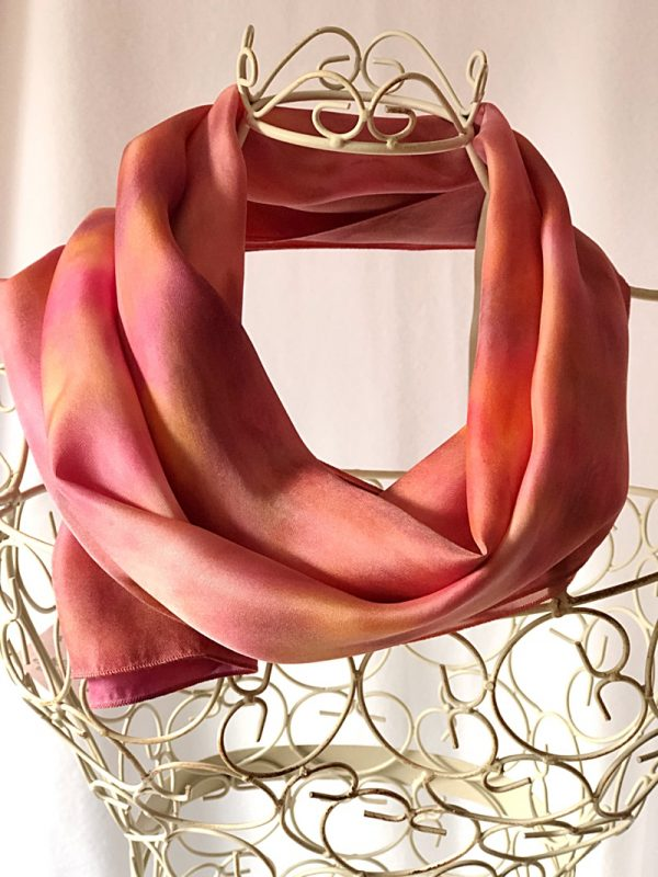 raspberry and orange sorbet scarf