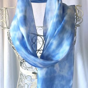 pale blue very long scarf