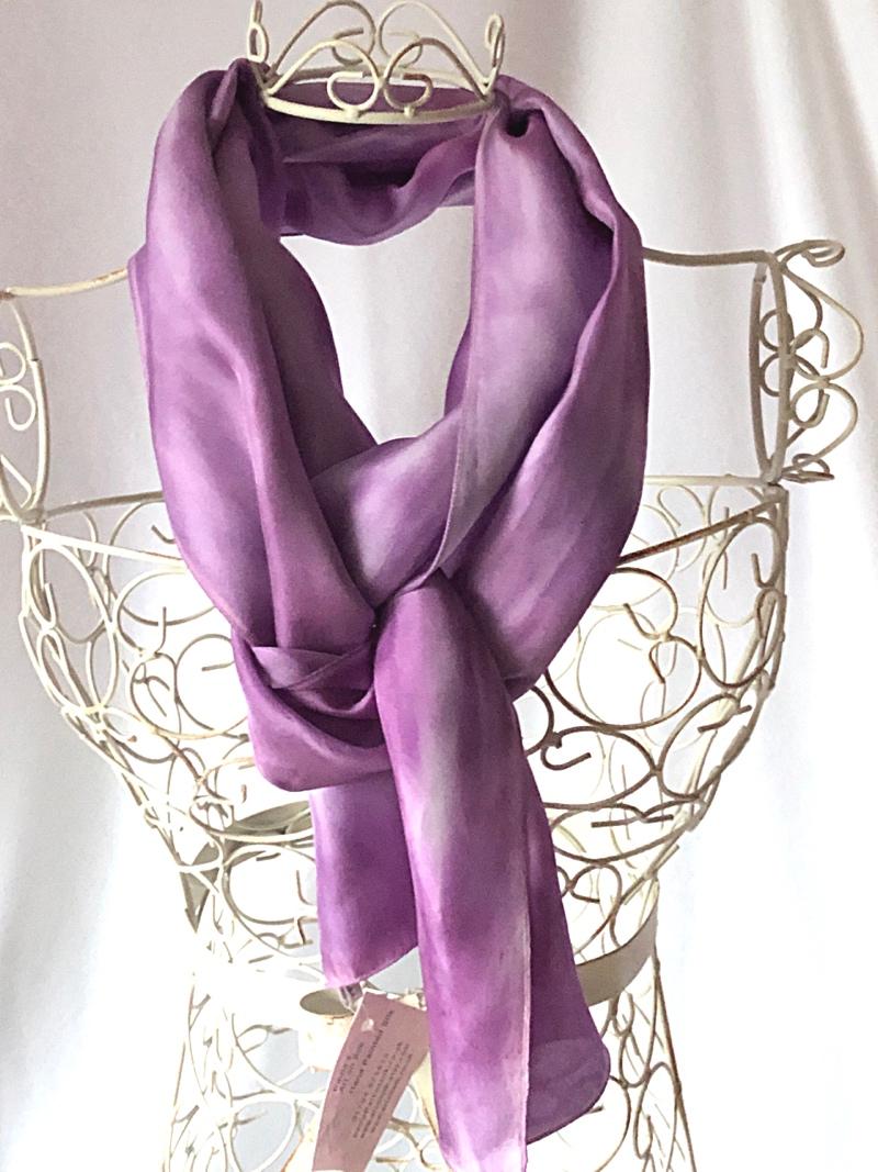 very long purple scarf