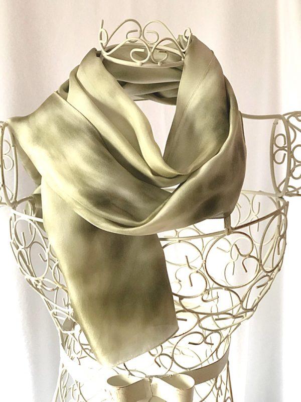 very long sage green scarf